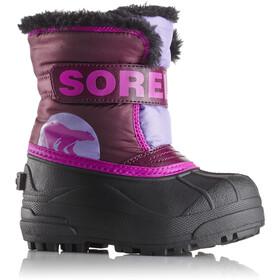 Sorel Snow Commander Laarzen Kinderen violet/zwart